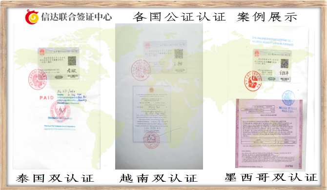 出国双认证办理案例
