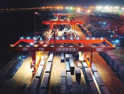 跨越大半个中国!长春至天津港铁海联运班列常态化运行